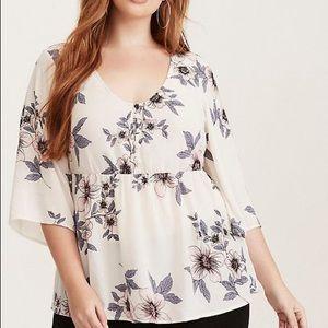 Torrid chiffon blouse 🌸